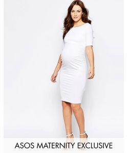 ASOS Maternity | Платье С Открытыми Плечами Для Беременных Белый