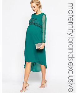 Maya Maternity | Платье Миди Для Беременных С Отделкой На Лифе И Манжетах Maya