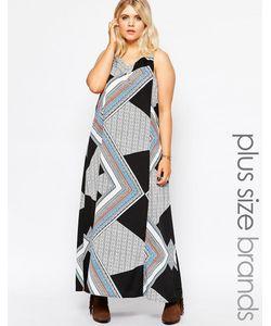 Diya | Платье Макси С Геометрическим Принтом Plus Мульти
