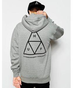 Huf | Худи С Тремя Треугольниками Серый