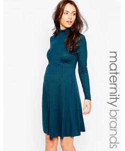 Kate Thomas | Платье Для Беременных С Высоким Воротом Сине-Зеленый