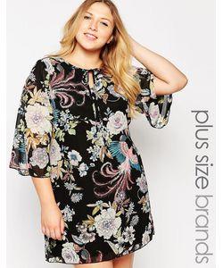 Yumi Plus   Платье-Туника Размера Плюс С Принтом В Стиле 70Х Yumi