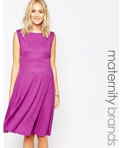Ripe | Плиссированное Платье Миди Для Беременных Maternity