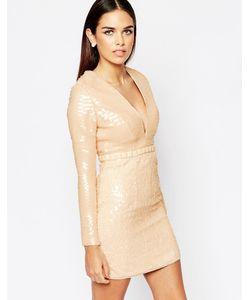 Rare Opulence | Платье С Пайетками Телесный