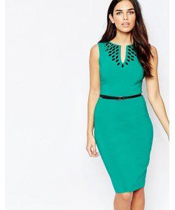 Hybrid | Платье Миди С Отделкой И Ремнем Fleur