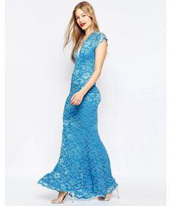 Honor Gold | Кружевное Платье Макси Синий