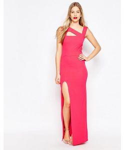 Honor Gold | Платье Макси С Вырезами И Боковым Разрезом Розовый