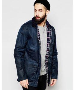 Brixtol | Вощеная Куртка С Вельветовым Воротником Темно-Синий