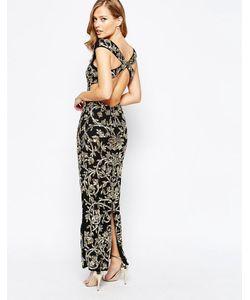 Virgos Lounge | Платье Макси С Отделкой И Открытой Спинкой Florence