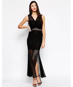 Ukulele | Кружевное Платье С Юбкой-Годе Черный