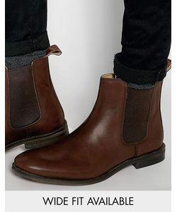 Asos | Кожаные Ботинки Chelsea Коричневый