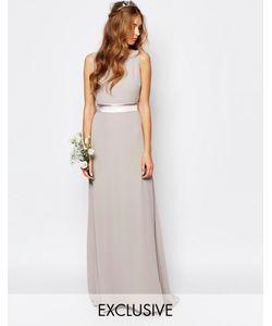 TFNC | Платье Макси С Бантом На Спинке Wedding Лавандовый Туман
