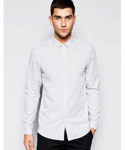 Asos | Серая Меланжевая Рубашка Классического Кроя Серый