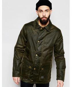 Brixtol | Вощеная Куртка С Вельветовым Воротником Оливковый