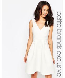 Paper Dolls Petite | Фактурное Приталенное Платье С Глубоким Вырезом Белый