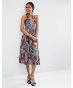 ASOS Africa | Платье-Халтер Миди С Мозаичным Принтом X Chichia