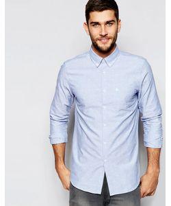 Jack Wills   Жаккардовая Рубашка-Оксфорд Классического Кроя С Корабликами Синий