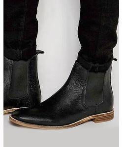 Asos | Черные Кожаные Ботинки Челси
