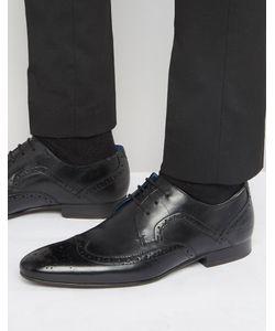 Ted Baker | Кожаные Туфли Дерби С Декоративной Перфорацией Oakke Черный