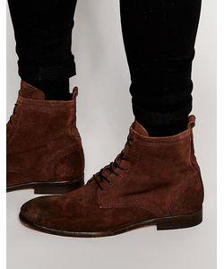 Hudson London   Замшевые Ботинки На Шнуровке Hudson Swathmore Коричневый