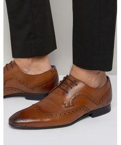Ted Baker | Кожаные Туфли Дерби С Декоративной Перфорацией Oakke Коричневый