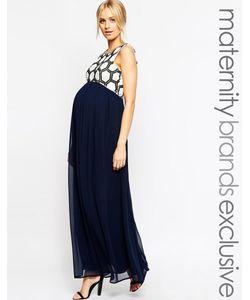 Maya Maternity | Платье Макси С Отделкой На Лифе