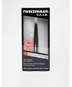 Tweezerman | Пинцет Со Скошенными Кончиками Черный