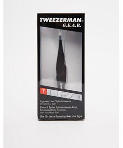Tweezerman | Пинцет Для Удаления Вросших Волосков И Щетинок Черный