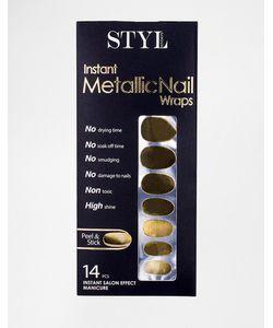 STYLondon | Моментальные Наклейки Metallic Серебристый Металлик
