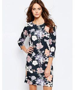 ICHI | Цельнокройное Платье С Цветочным Принтом Lemana Черный