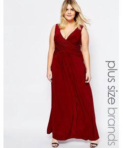 Goddiva plus | Платье Макси Размера Плюс С Запахом Спереди