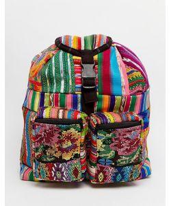 Hiptipico | Маленький Рюкзак С Вышивкой Мульти