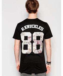 Rum Knuckles | Футболка С Цветочным Принтом Номера 88 Черный