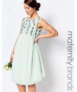 Maya Maternity | Декорированное Платье Для Беременных Зеленый