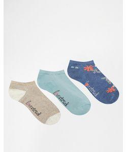 Lovestruck | 3 Пары Темно-Синих Спортивных Носков С Цветочным Рисунком Темно-Синий