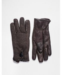 Peter Werth | Кожаные Перчатки С Отделкой В Клеточку
