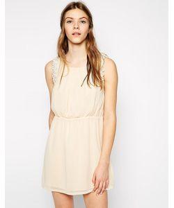 Color Block | Платье С Кружевной Фигурной Отделкой