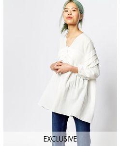 Zacro | Oversize-Блузка Со Складками Спереди И Рукавами С Напуском