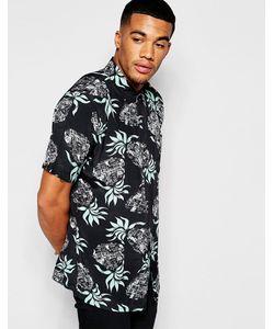 Huf | Классическая Рубашка С Ананасовым Принтом Черный