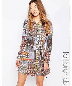 Influence Tall | Платье-Рубашка С Принтом Пейсли В Стиле Пэтчворк Мульти
