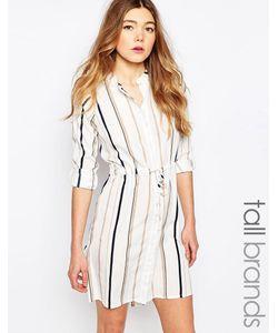 Influence Tall | Платье-Рубашка В Полоску Серый