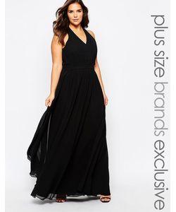 Forever Unique Plus | Платье Макси С Халтером И Глубоким Вырезом