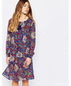 Diya | Свободное Платье С Удлиненной Спинкой И Принтом Пейсли Blue