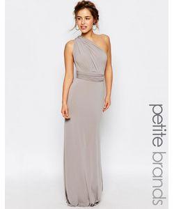 TFNC Petite | Платье-Трансформер Макси С Годе Wedding Серый