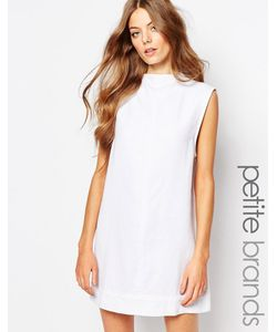 Waven Petite | Джинсовое Платье С Высокой Горловиной Ditte Белый