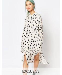 Zacro | Длинное Платье-Рубашка С Удлиненным Краем