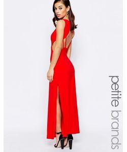 Lipstick Boutique Petite | Платье Макси С Открытой Спинкой Красный
