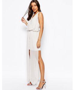 Asos | Шифоновое Платье Макси В Греческом Стиле Серый