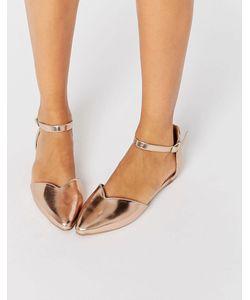 Head over Heels by Dune | Золотистые Туфли На Плоской Подошве Hyrah