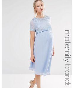 Maya Maternity | Короткое Приталенное Платье С Отделкой Пайетками
